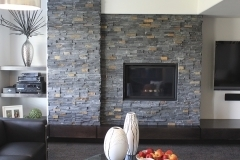 REALSTONE Charcoal-Ledgestone-residential-fireplace