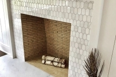 ONYX FRANCE Elongated-Hex-White-statuary-fireplace