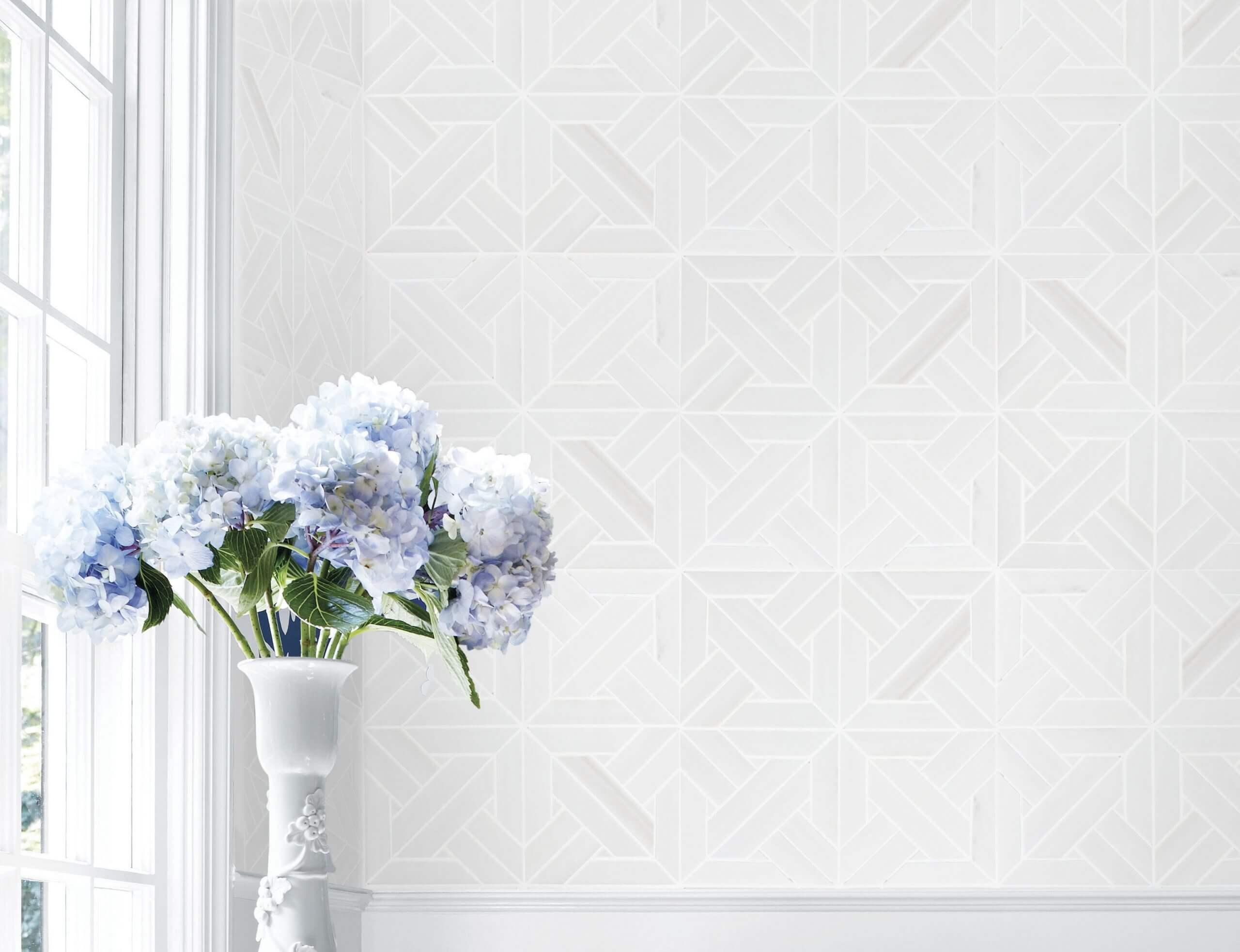 White elegant Parquet